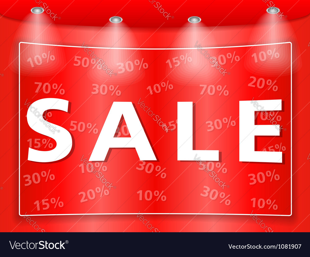 Sale banner vector | Price: 1 Credit (USD $1)