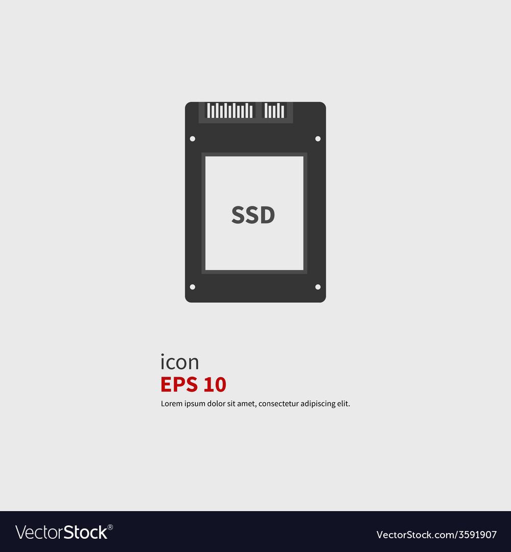Ssd icon vector | Price: 1 Credit (USD $1)