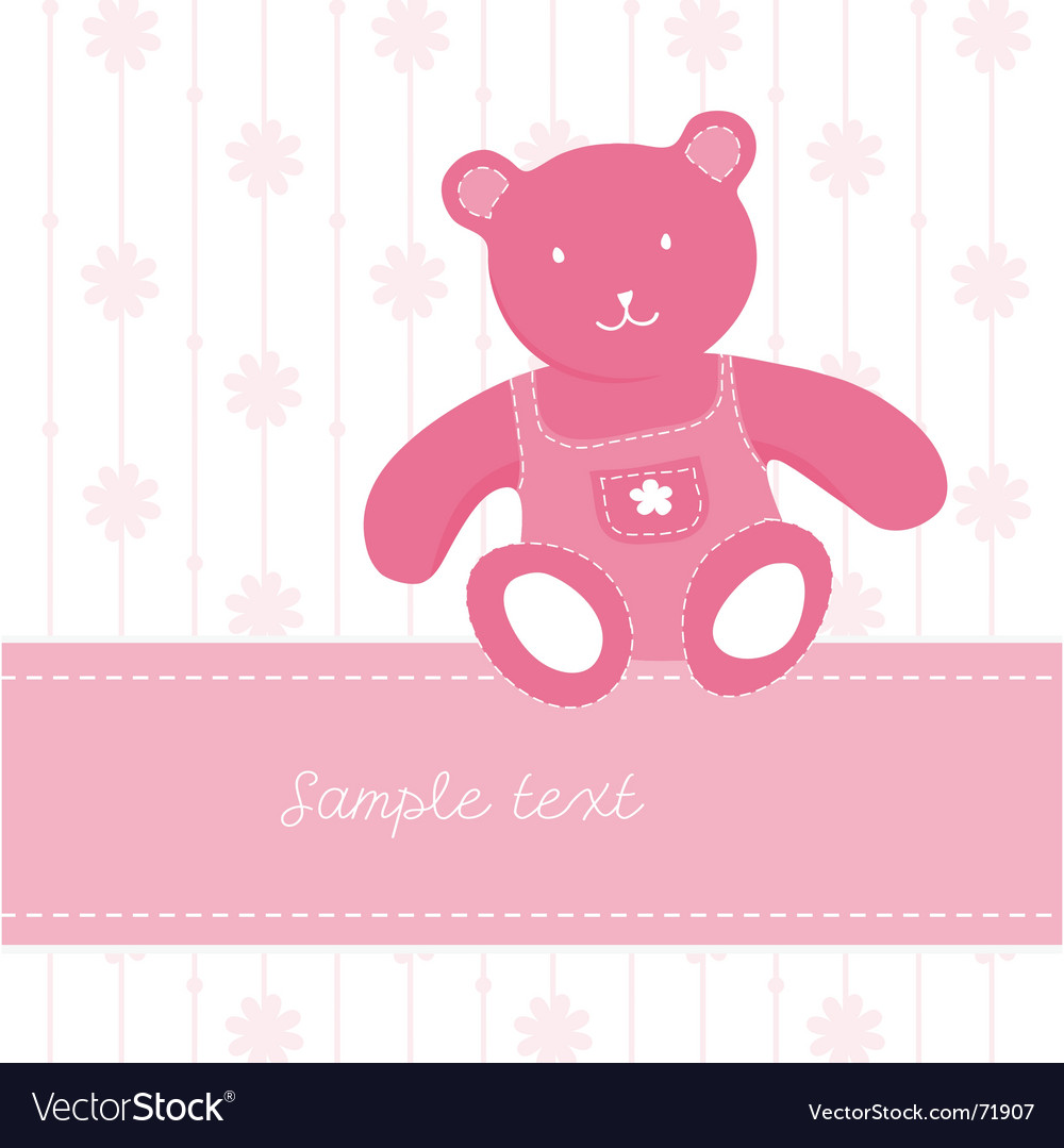 Teddy bear page vector | Price: 1 Credit (USD $1)