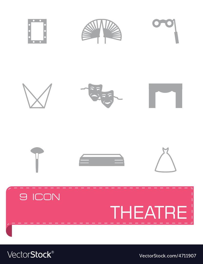 Theatre icon set vector | Price: 1 Credit (USD $1)