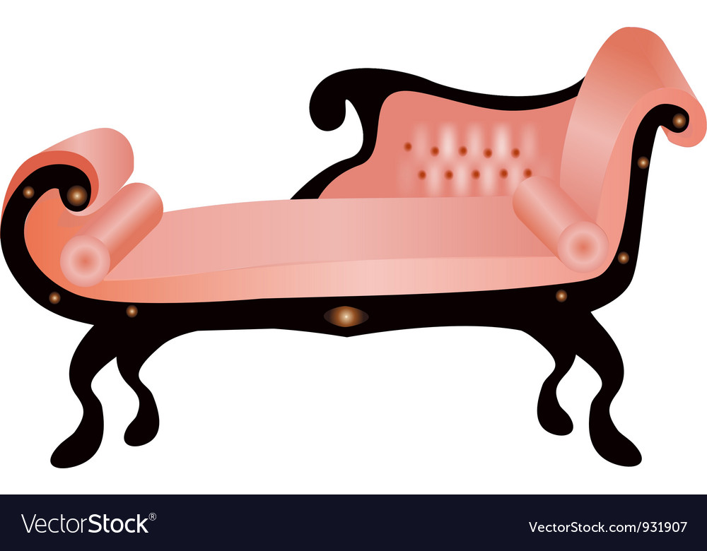 Vintage couch vector | Price: 1 Credit (USD $1)