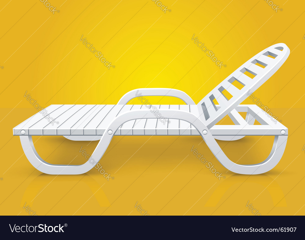 White deck chair beach inventory vector | Price: 1 Credit (USD $1)