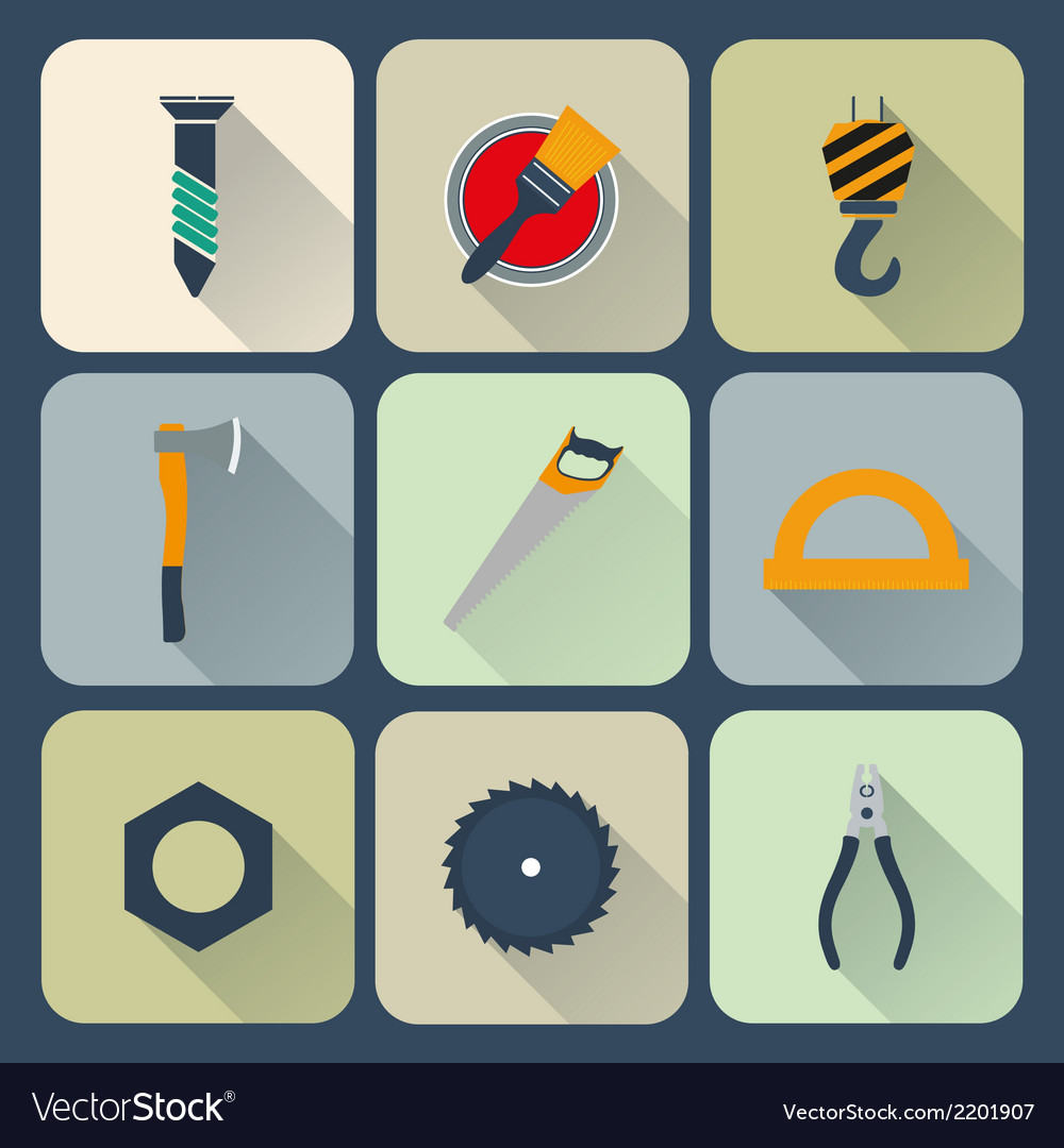 Working tools icons set vector | Price: 1 Credit (USD $1)