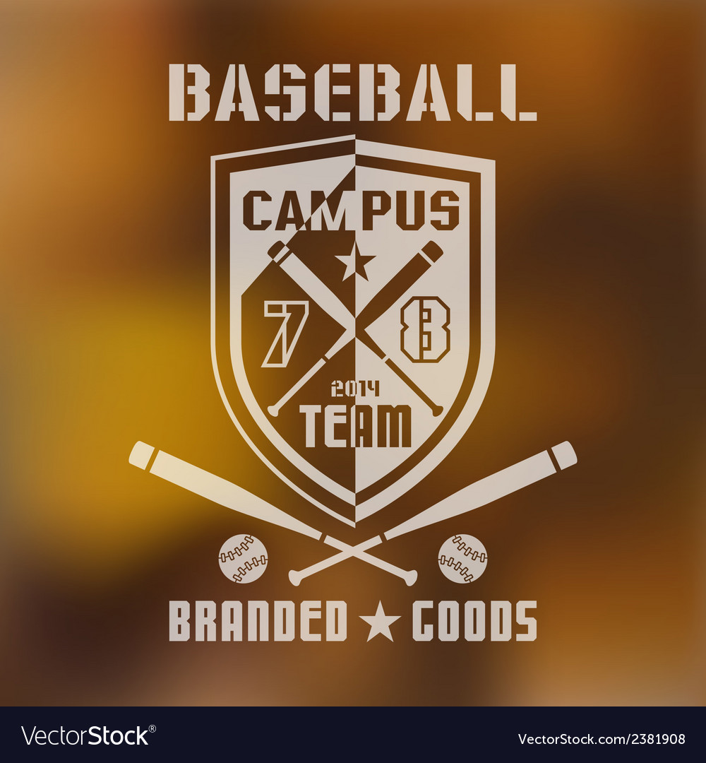 Baseball sport emblem vector | Price: 1 Credit (USD $1)
