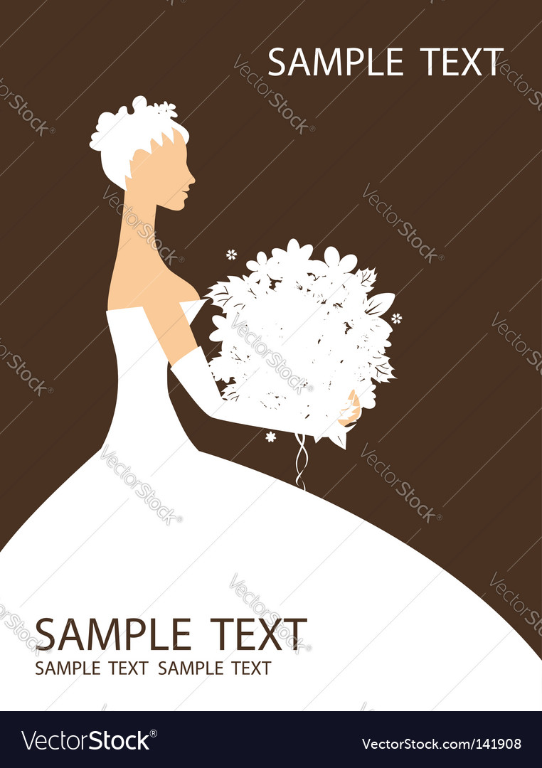 Bride beautiful with bouquet vector   Price: 1 Credit (USD $1)