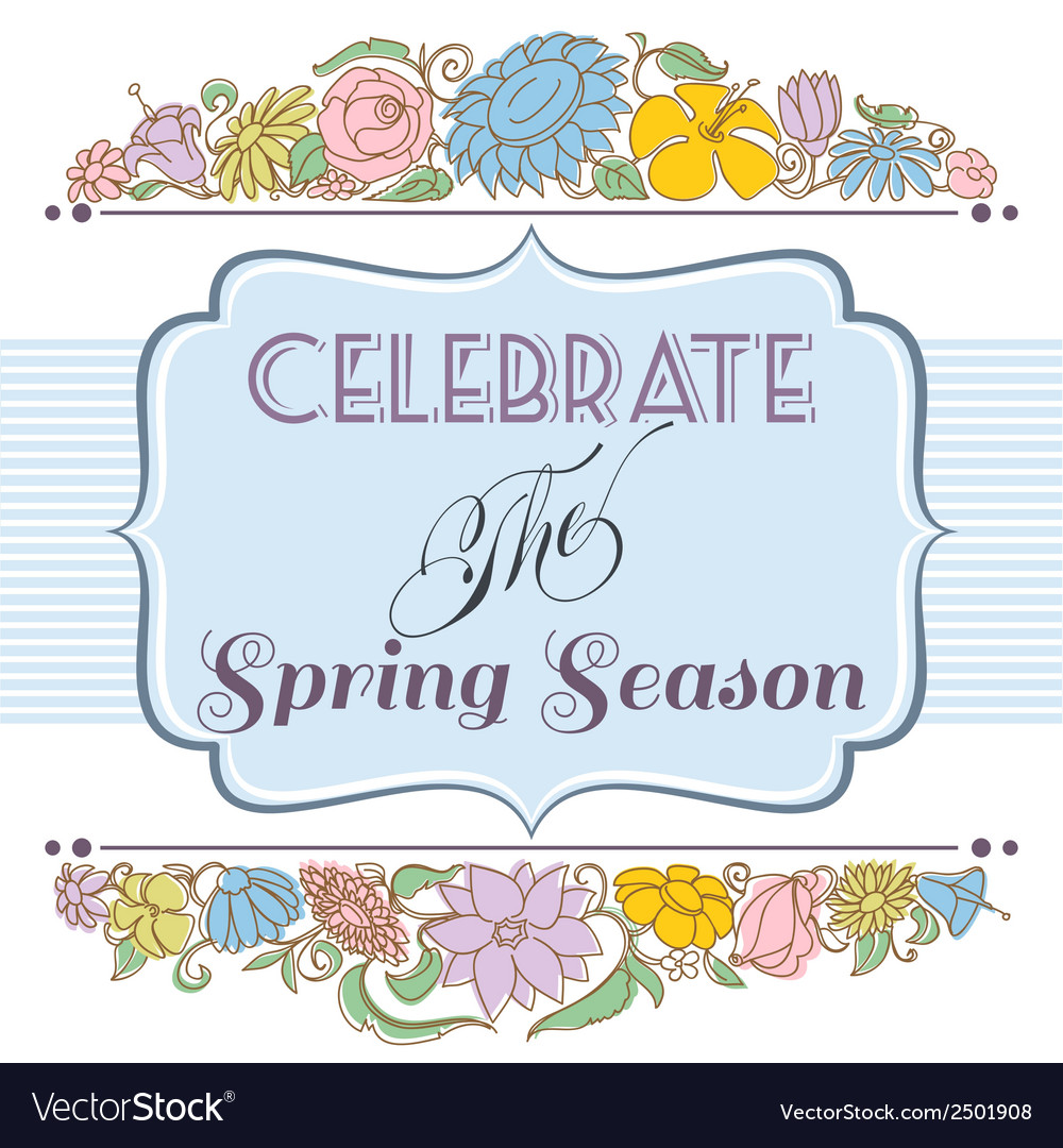 Celebrate the spring season background floral vector | Price: 1 Credit (USD $1)