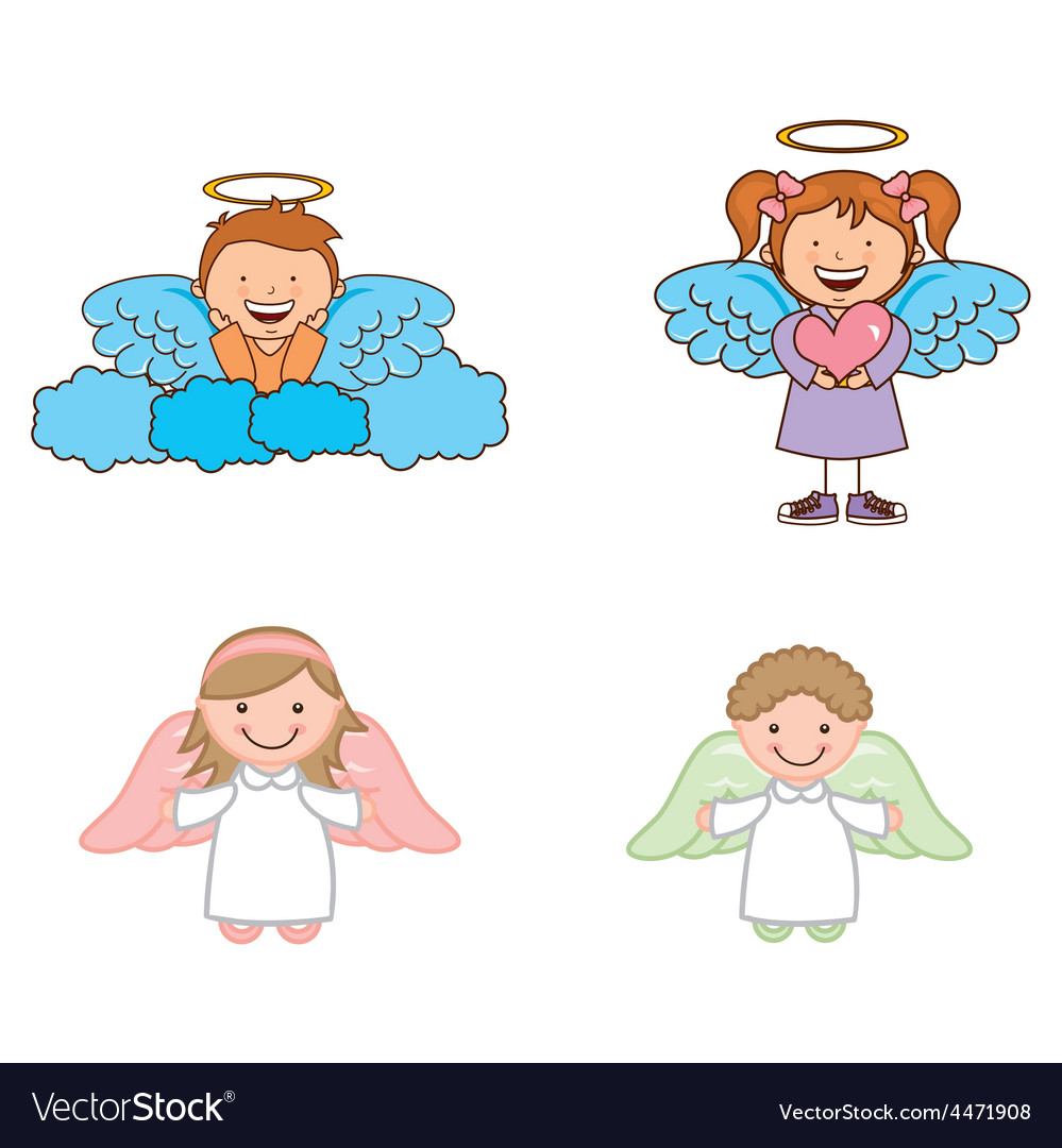 Cute angels vector