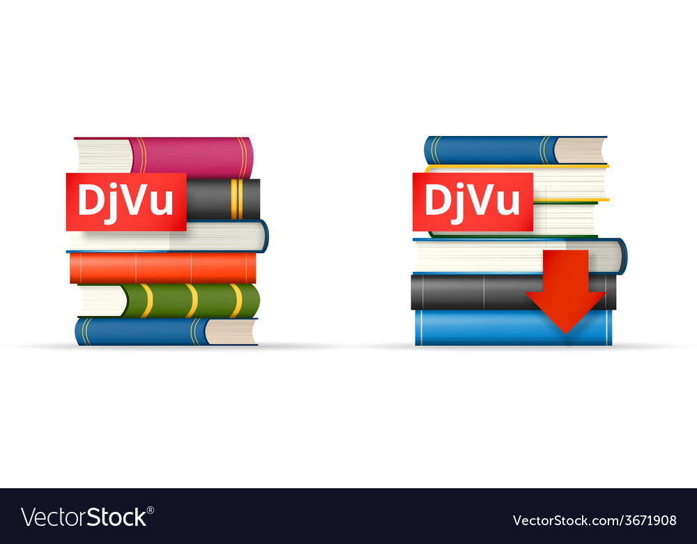 Djvu books stacks icons vector | Price: 1 Credit (USD $1)