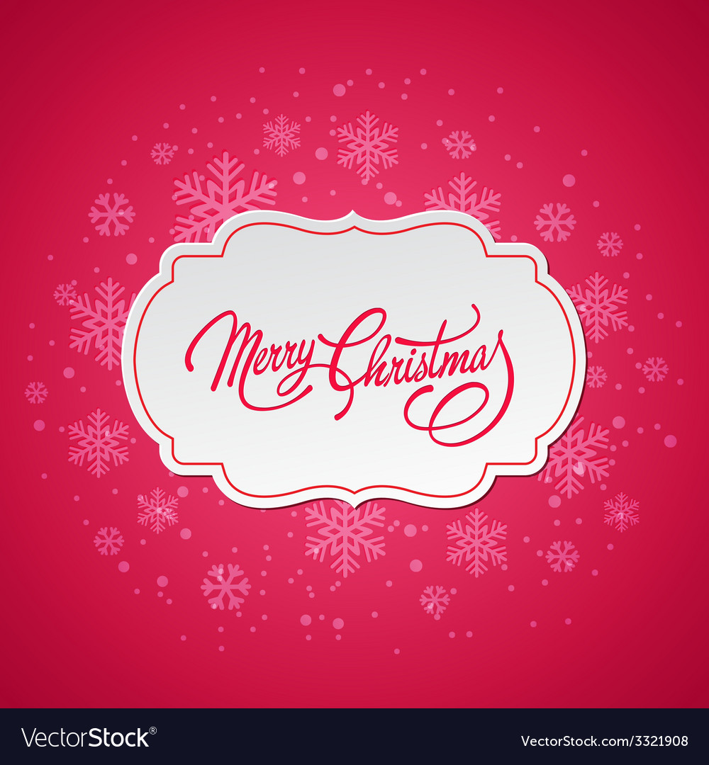 Merry christmas greeting card with snowflakes vector | Price: 1 Credit (USD $1)