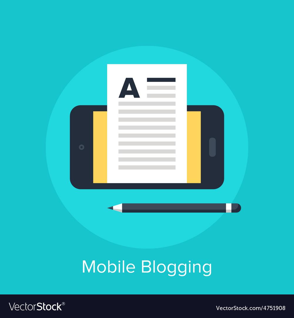 Mobile blogging vector   Price: 1 Credit (USD $1)