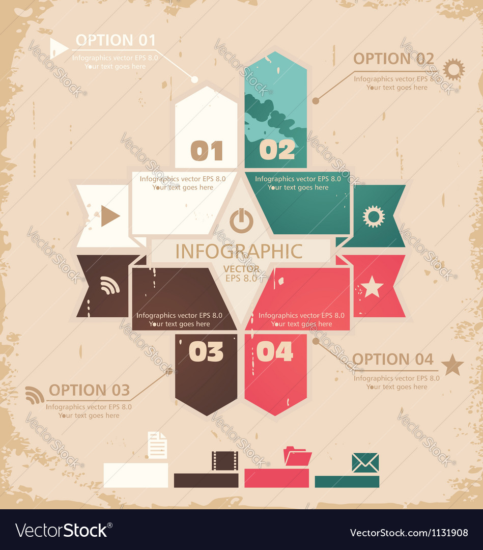 Retro design template vector | Price: 1 Credit (USD $1)