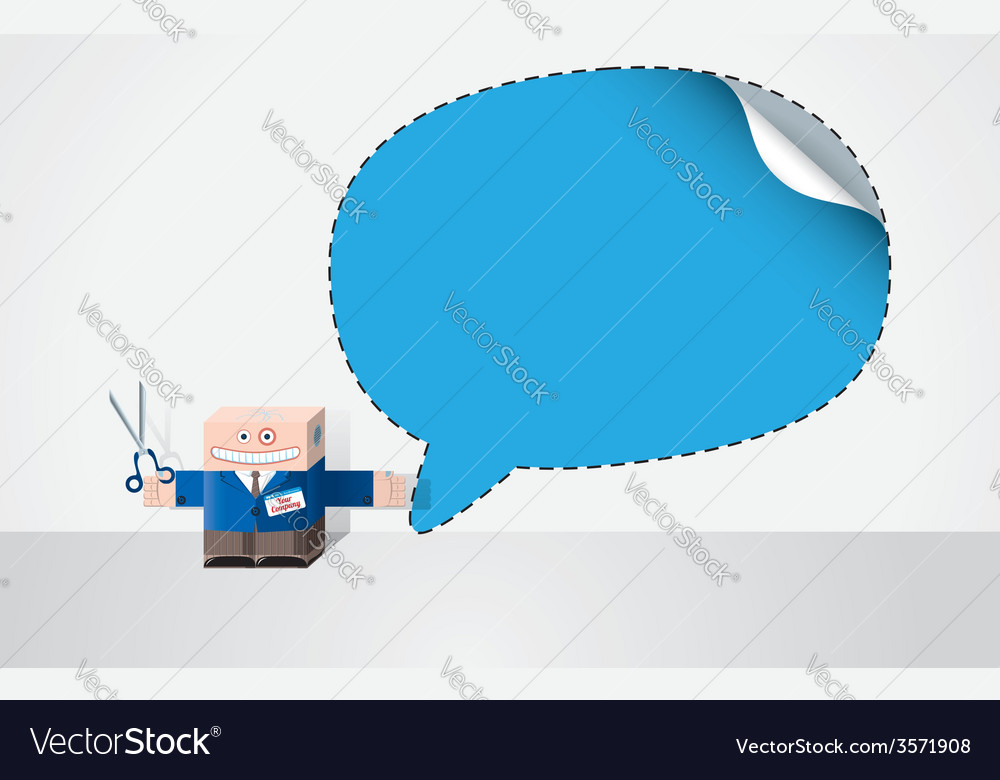 Robot with cut out speech bubble vector | Price: 1 Credit (USD $1)