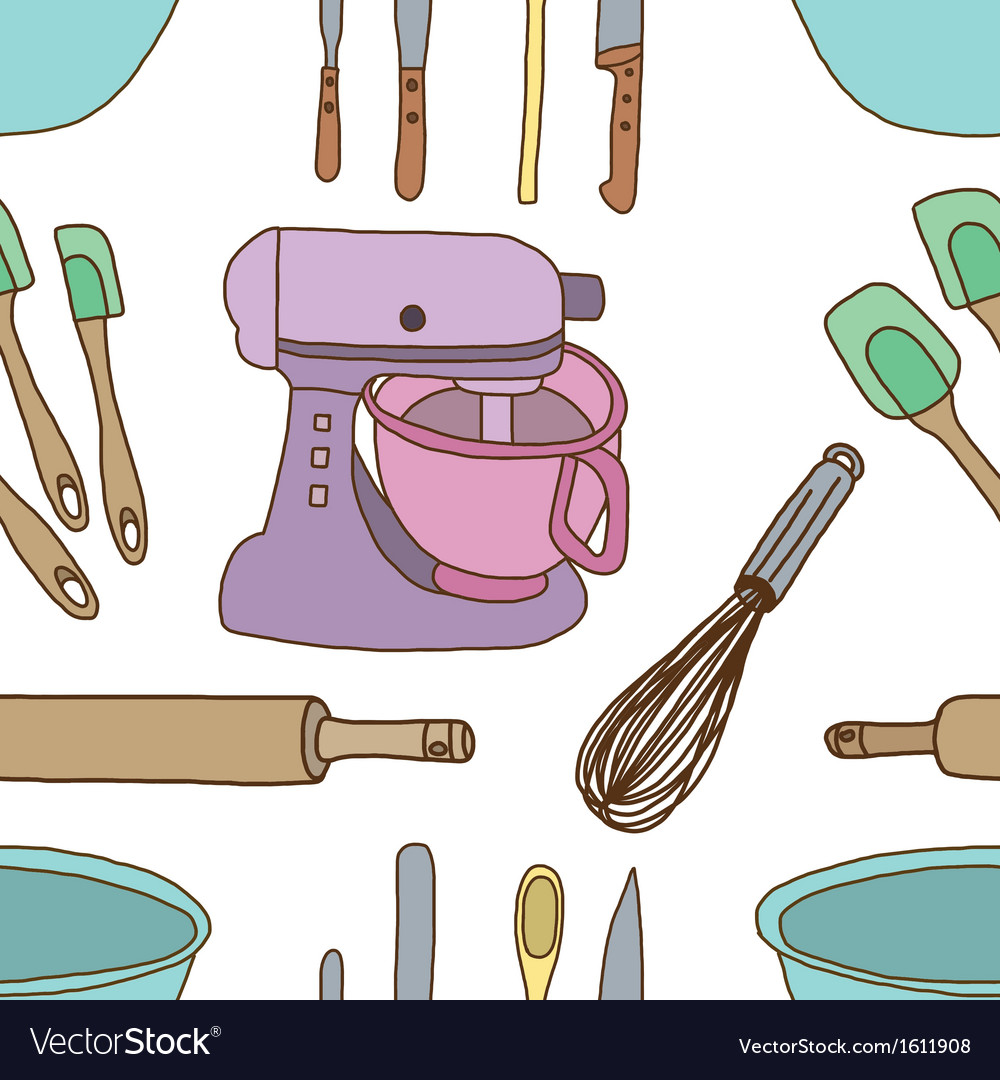 Seamless of baking items vector | Price: 1 Credit (USD $1)