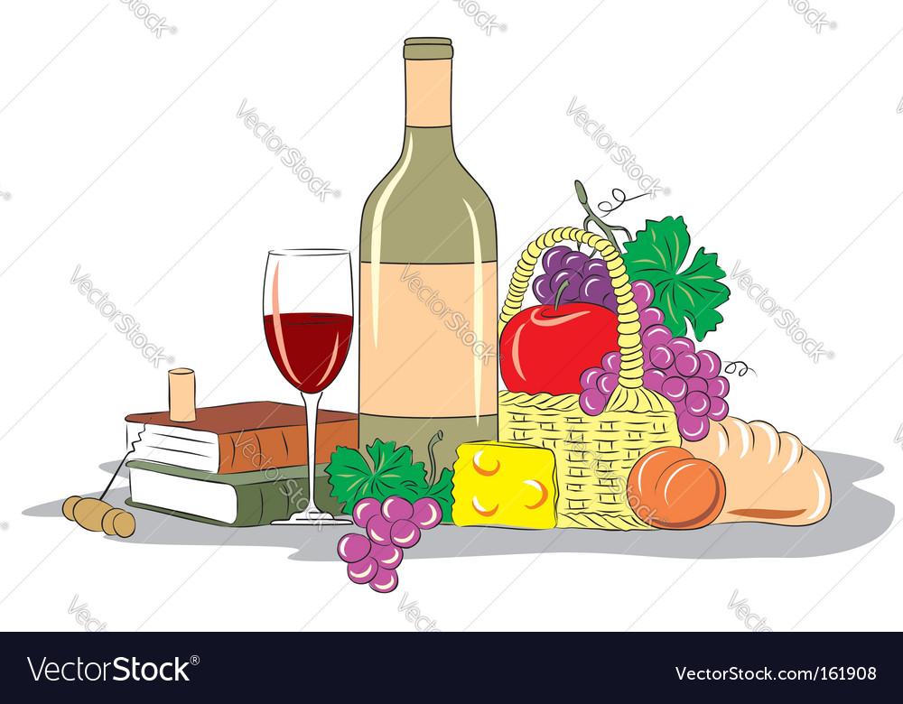 Wine still life vector | Price: 3 Credit (USD $3)