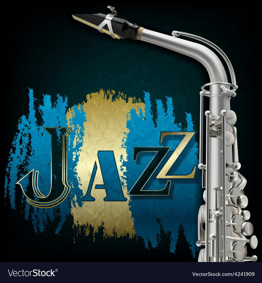 Abstract grunge music background with saxophone vector | Price: 3 Credit (USD $3)