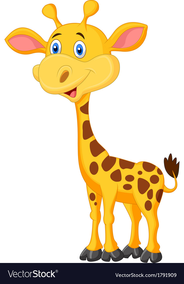 Cute giraffe cartoon vector | Price: 1 Credit (USD $1)