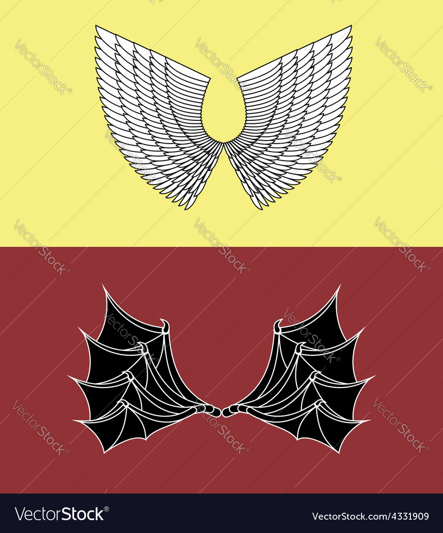 Demon and angel wings vector | Price: 1 Credit (USD $1)