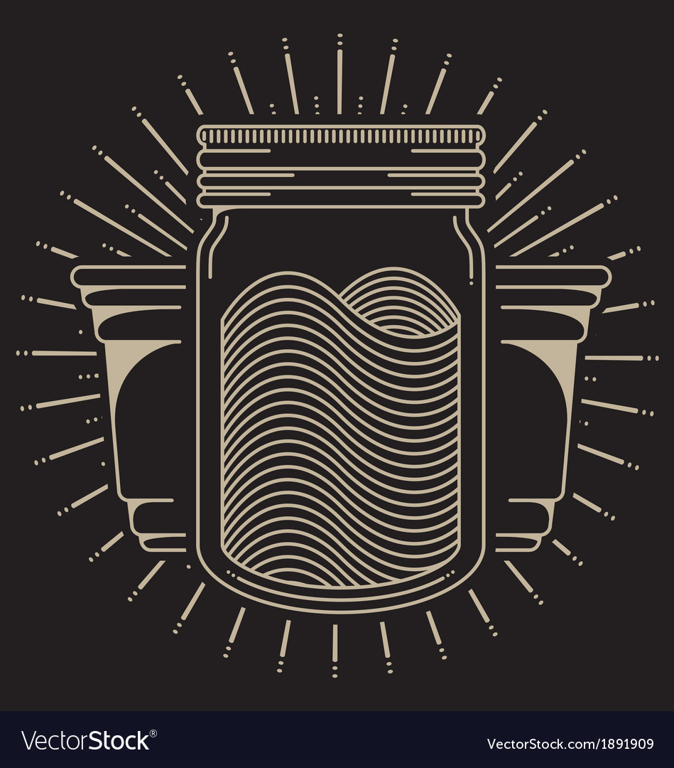 Mason jar vector | Price: 1 Credit (USD $1)