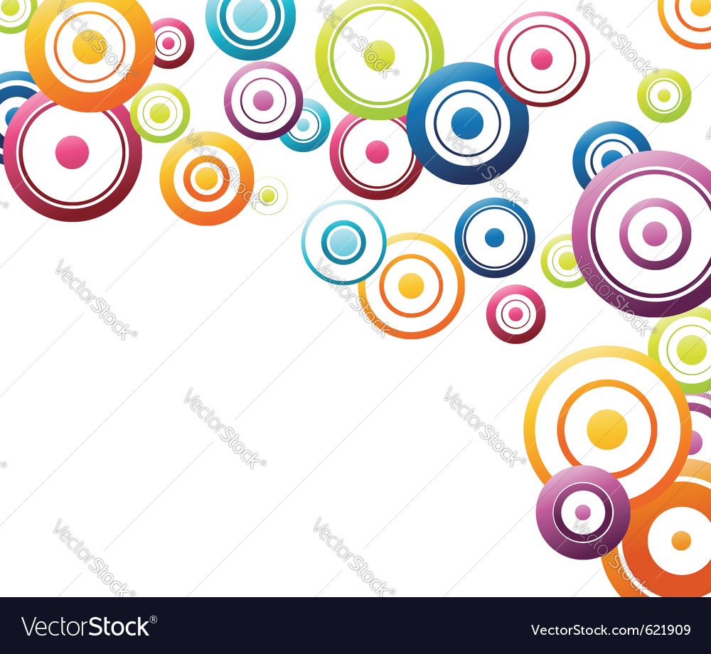 Rainbow circles flowing vector | Price: 1 Credit (USD $1)