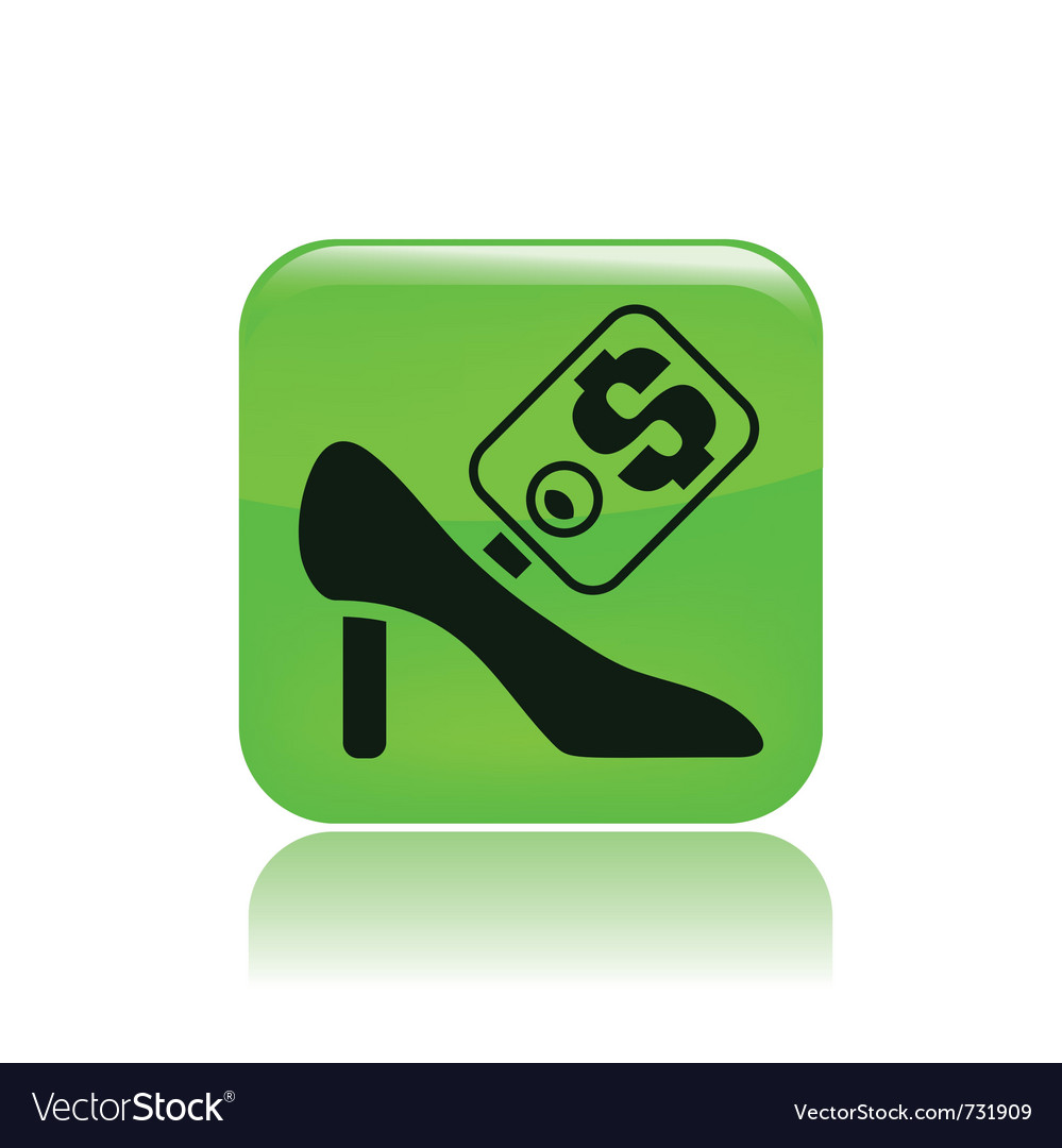 Shoe price vector | Price: 1 Credit (USD $1)