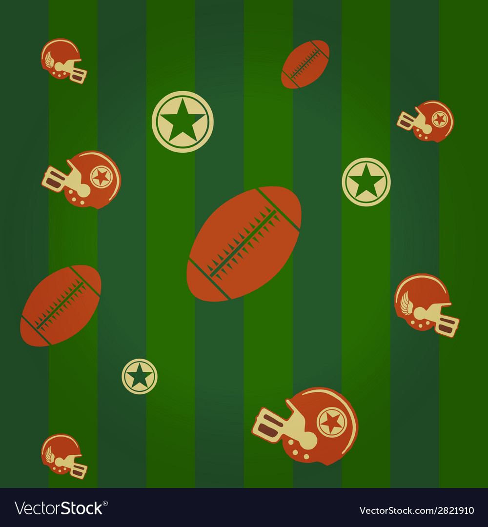 American football pattern vector | Price: 1 Credit (USD $1)