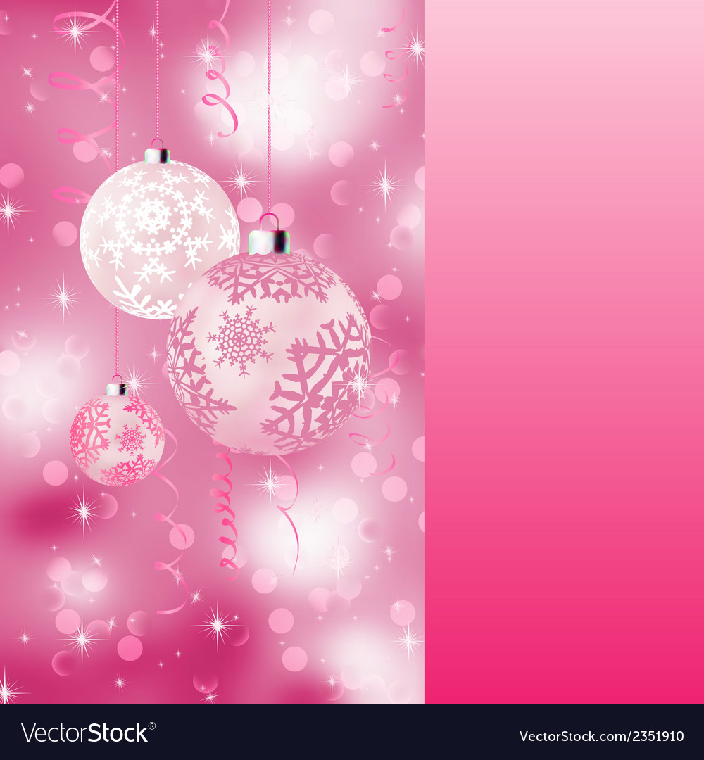 Background with stars and christmas balls eps 8 vector | Price: 1 Credit (USD $1)