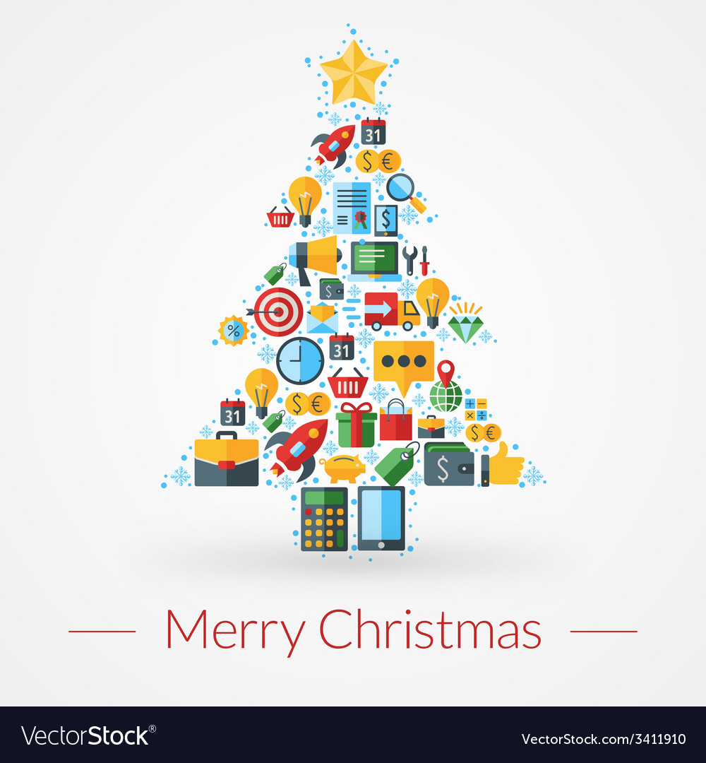 Christmas greeting card icons and symbols vector   Price: 1 Credit (USD $1)