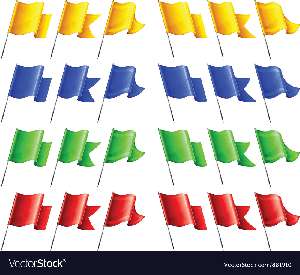 Flags four colors angle vector | Price: 3 Credit (USD $3)