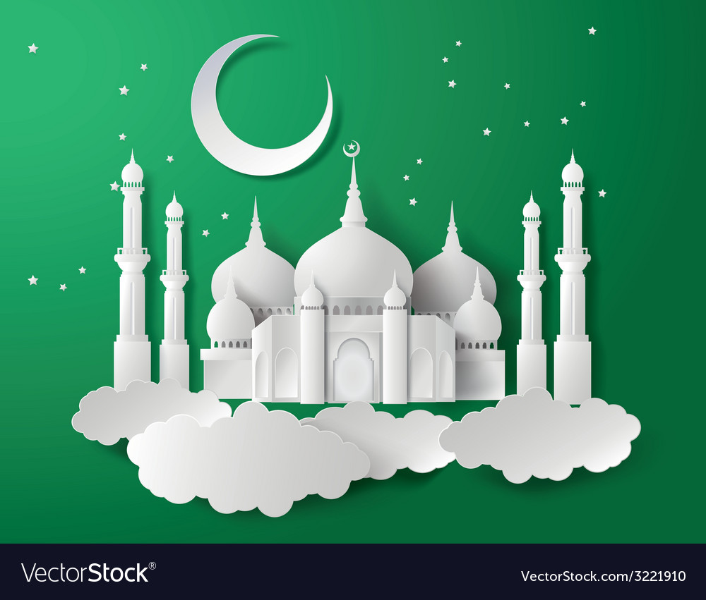 Paper of mosque vector | Price: 1 Credit (USD $1)