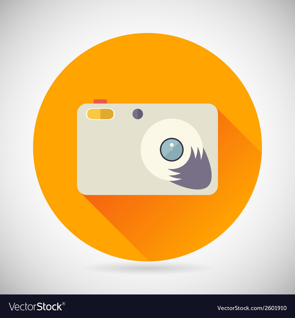 Photography symbol compact camera zoom icon on vector | Price: 1 Credit (USD $1)