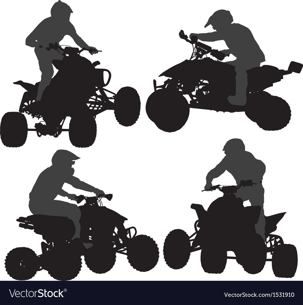 Quadbike silhouette vector | Price: 1 Credit (USD $1)
