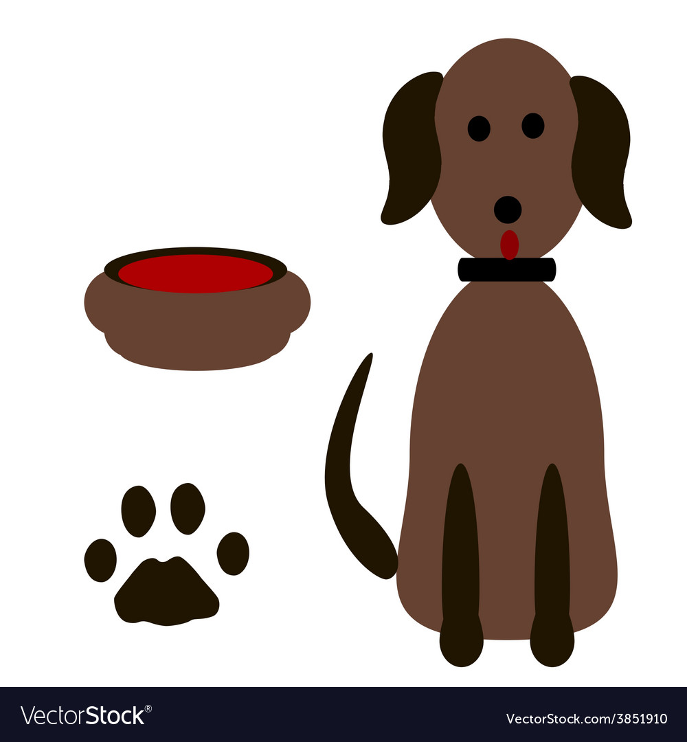 Silhouette dog footprints vector | Price: 1 Credit (USD $1)