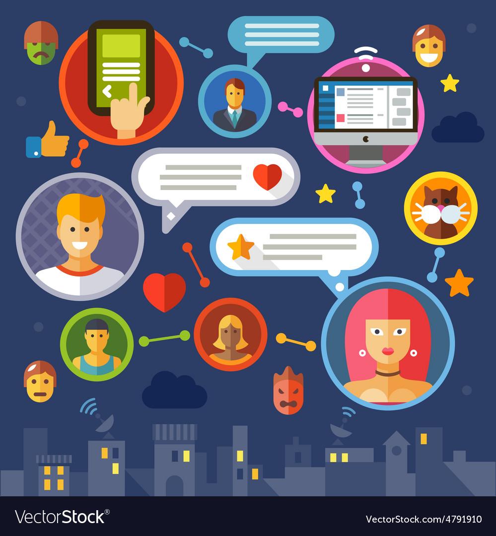 Social network vector | Price: 3 Credit (USD $3)