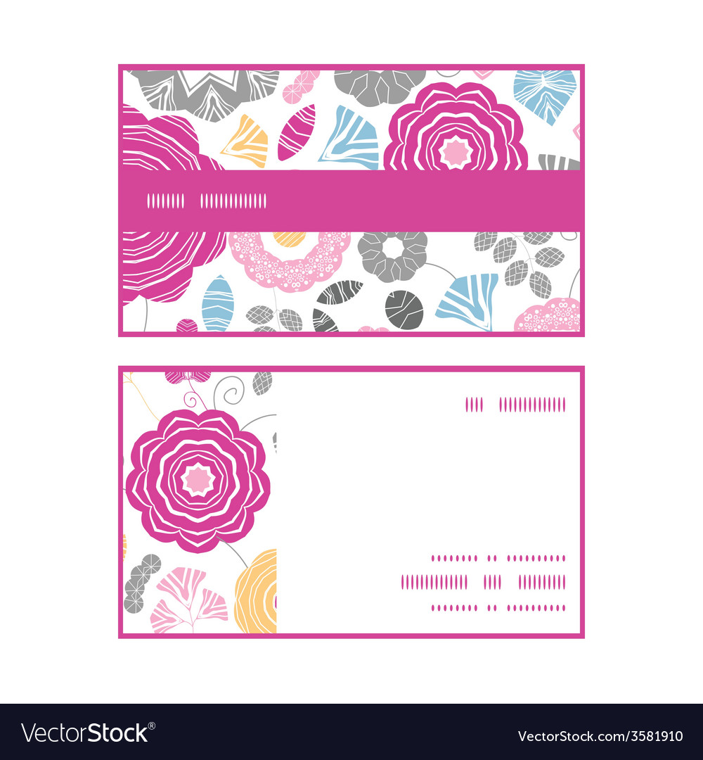 Vibrant floral scaterred horizontal stripe frame vector | Price: 1 Credit (USD $1)
