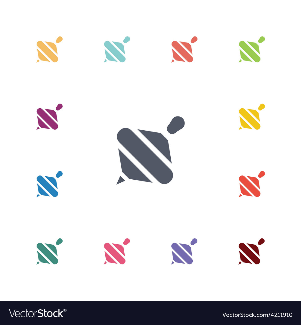 Whirligig flat icons set vector | Price: 1 Credit (USD $1)