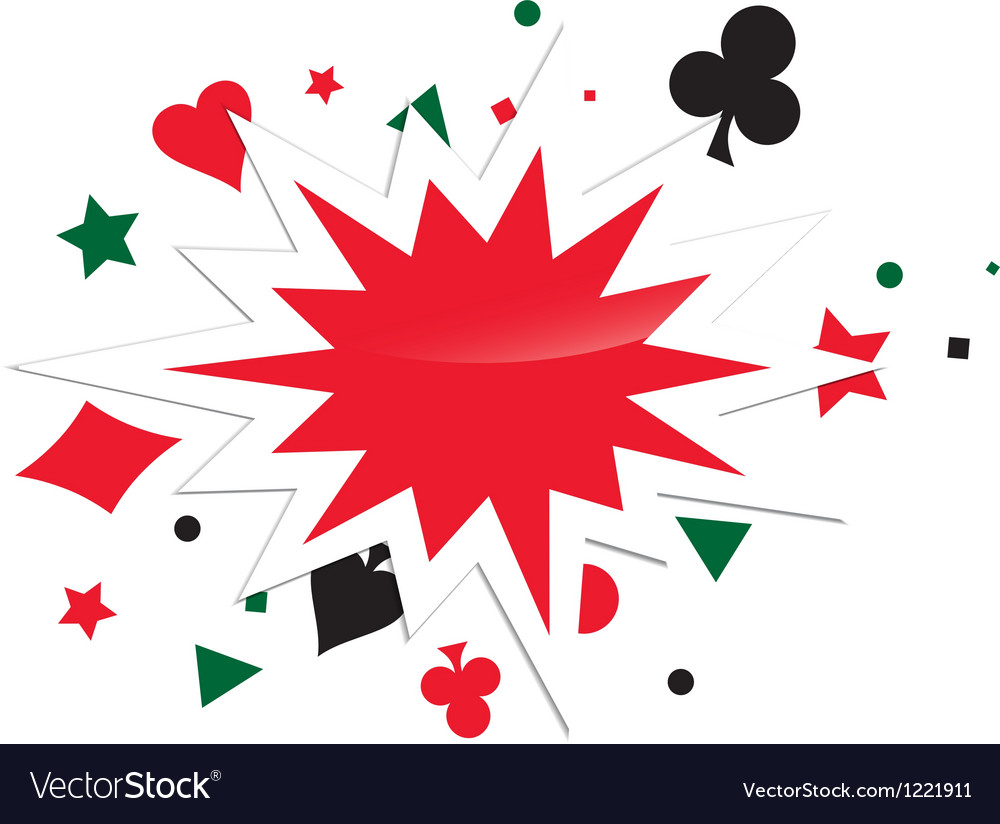 Abstract card game boom vector | Price: 1 Credit (USD $1)