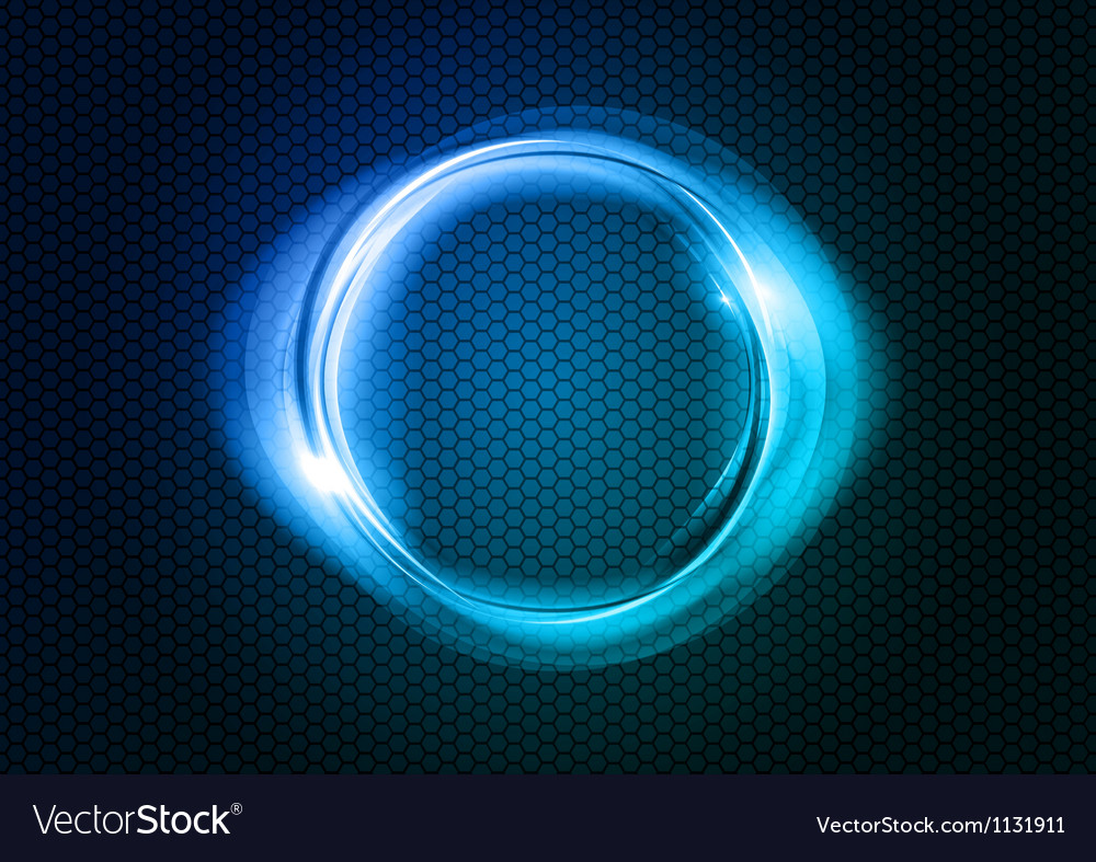 Abstract round on black blue vector | Price: 1 Credit (USD $1)