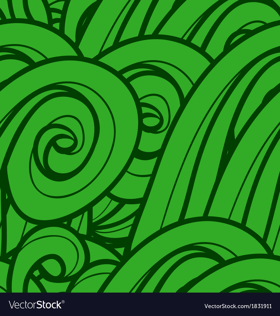 Background with abstract green waves seamless vector | Price: 1 Credit (USD $1)