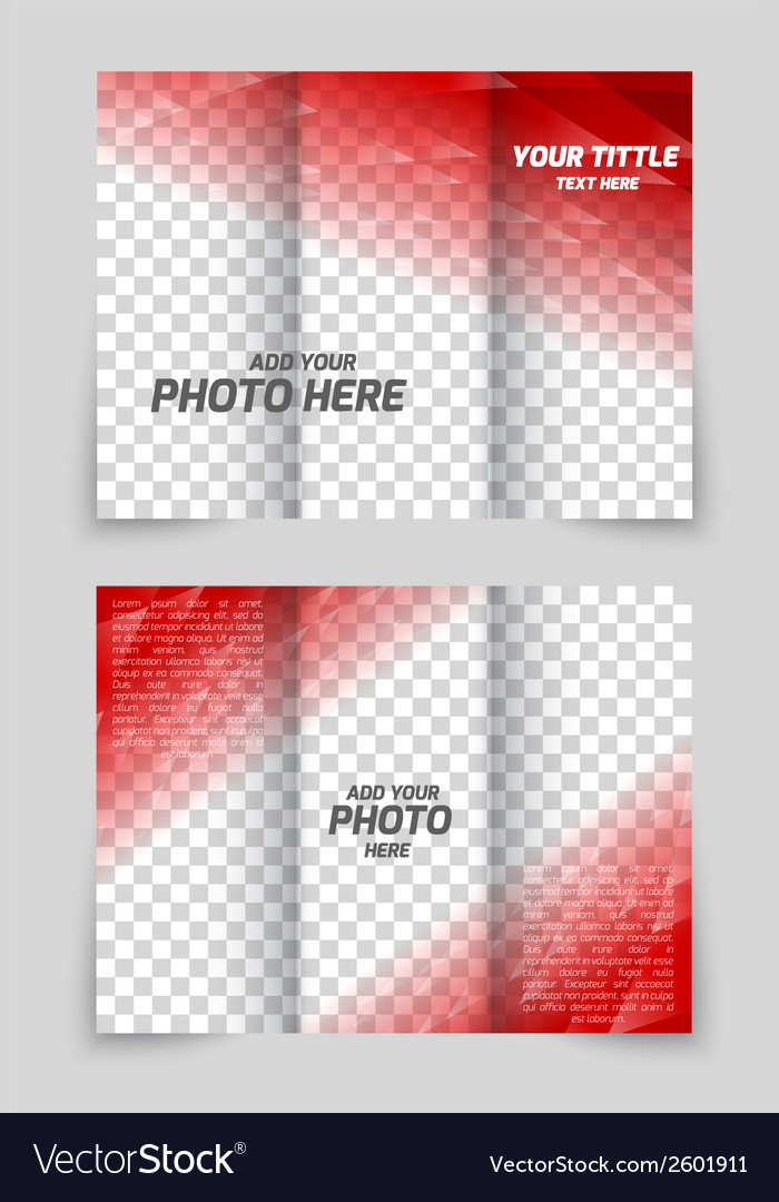 Brochure red template vector | Price: 1 Credit (USD $1)