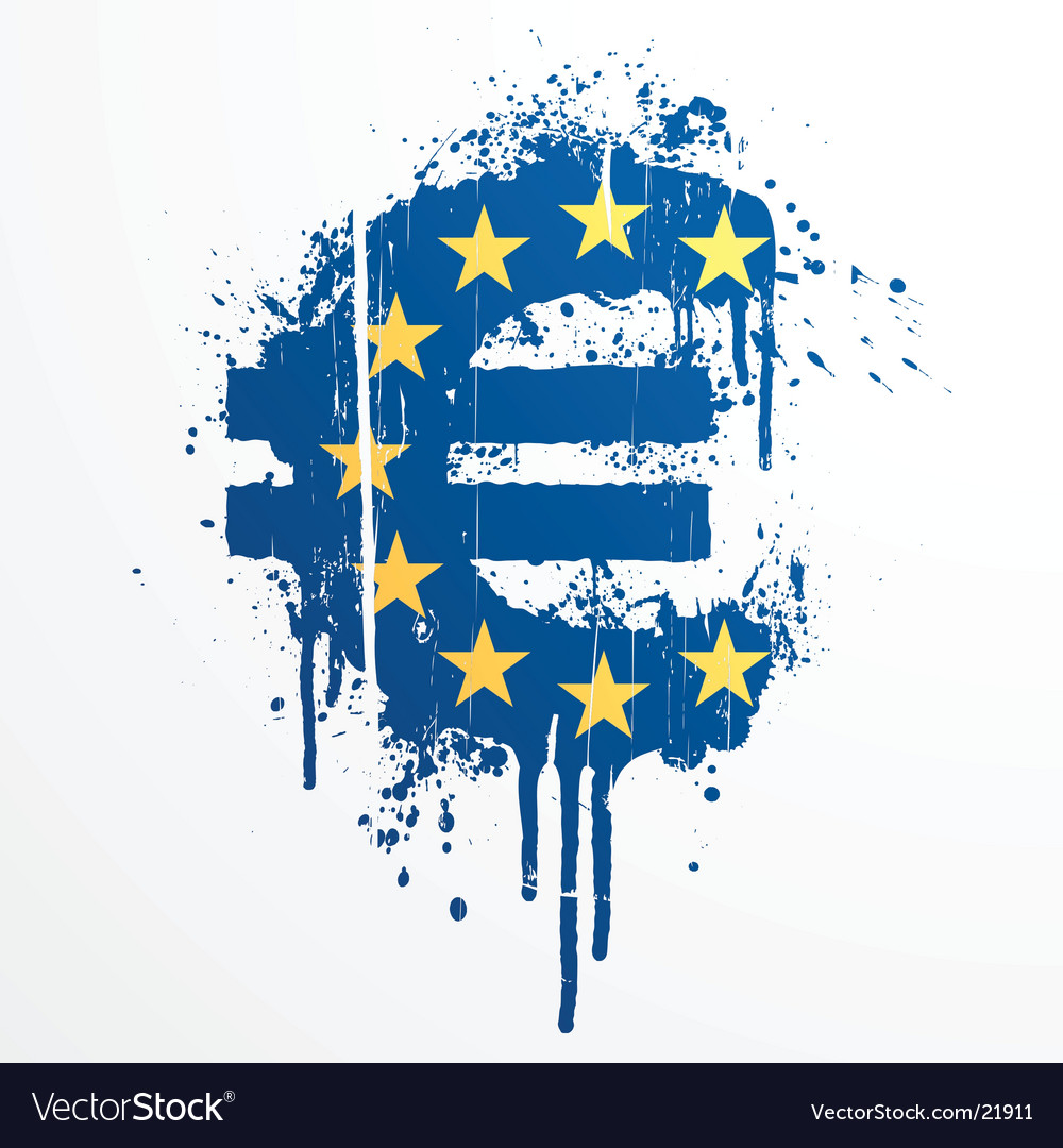 European union euro splatter element vector | Price: 1 Credit (USD $1)