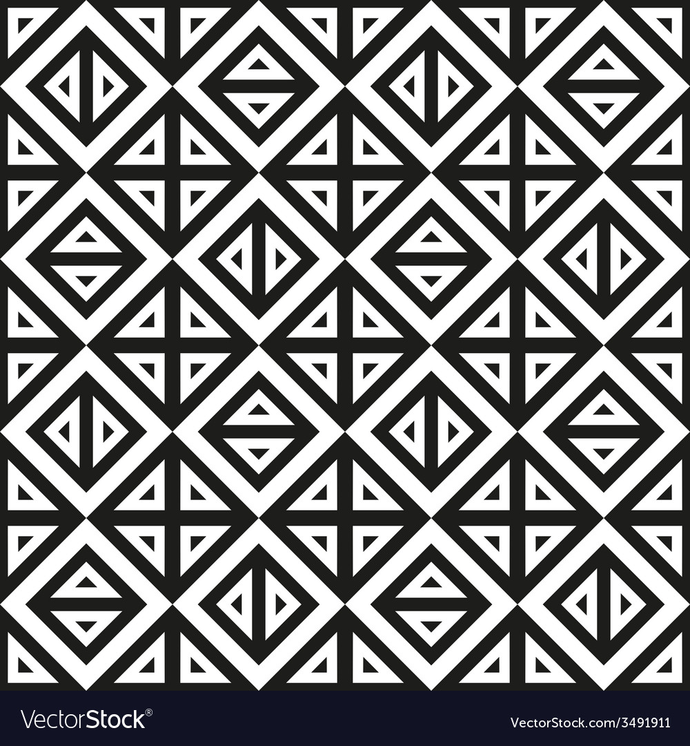 Geometric abstract monochrome pattern seamless vector | Price: 1 Credit (USD $1)