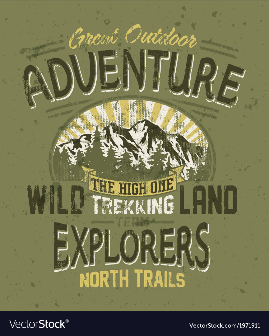 Great outdoor adventure vector | Price: 1 Credit (USD $1)