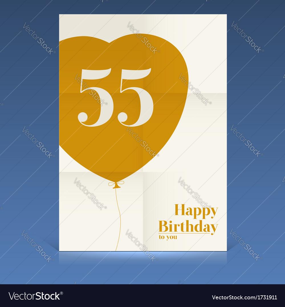 Happy birthday poster vector | Price: 1 Credit (USD $1)