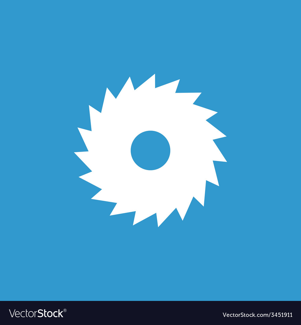 Industrial saw icon white on the blue background vector | Price: 1 Credit (USD $1)