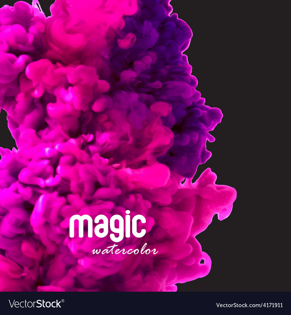 Magic watercolor swirling ink in water vector   Price: 1 Credit (USD $1)