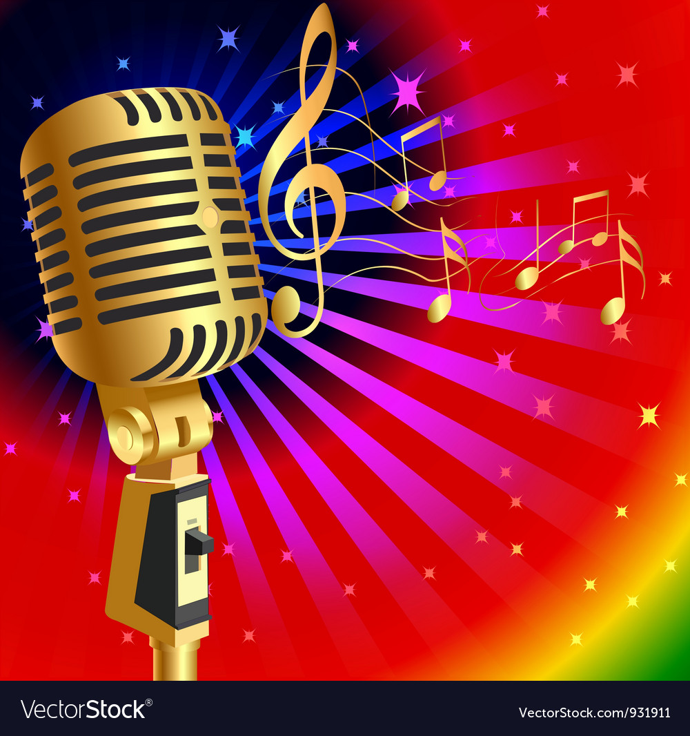 Microphone background vector | Price: 1 Credit (USD $1)