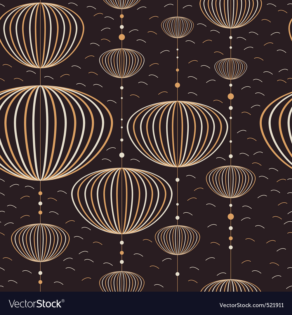 Seamless lantern pattern vector | Price: 1 Credit (USD $1)