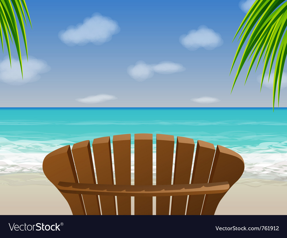 Adirondack beach chair vector | Price: 3 Credit (USD $3)