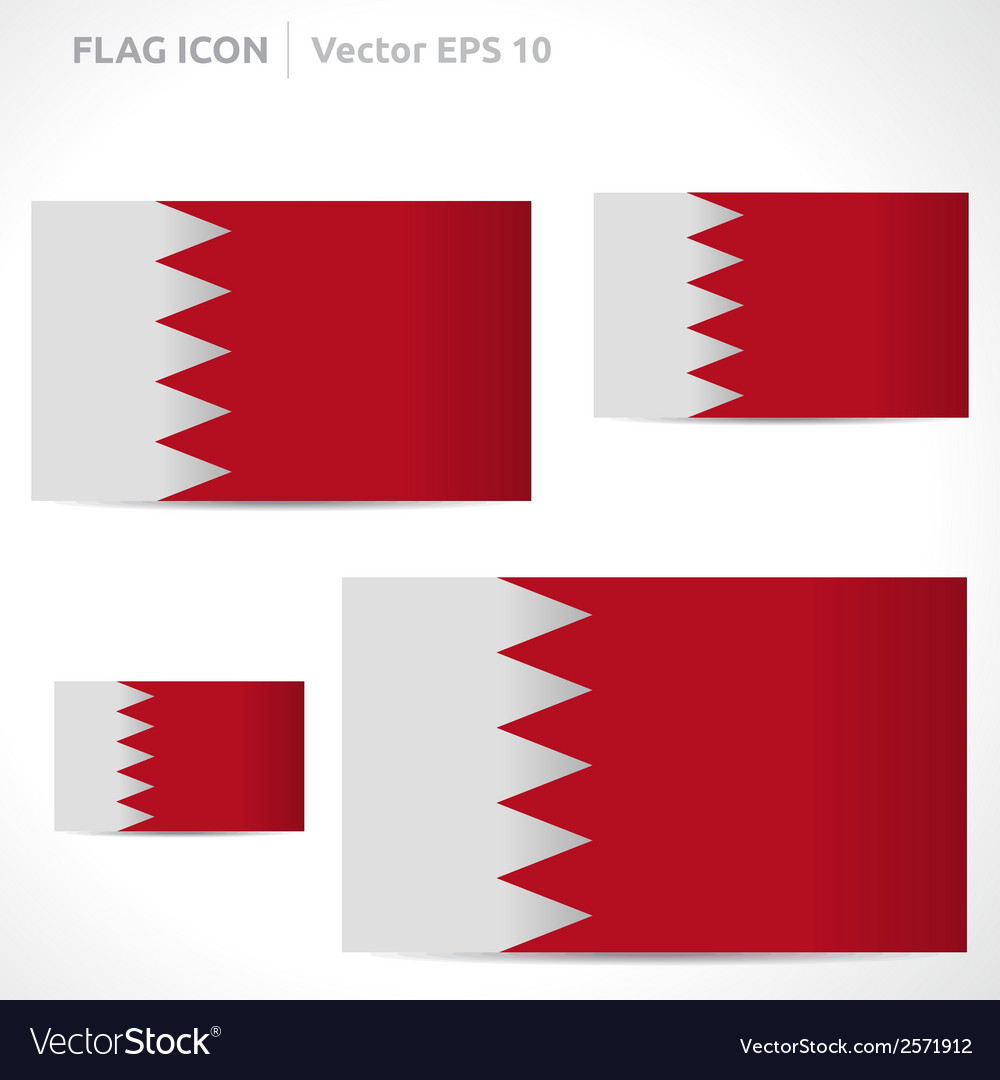 Bahrain flag template vector | Price: 1 Credit (USD $1)