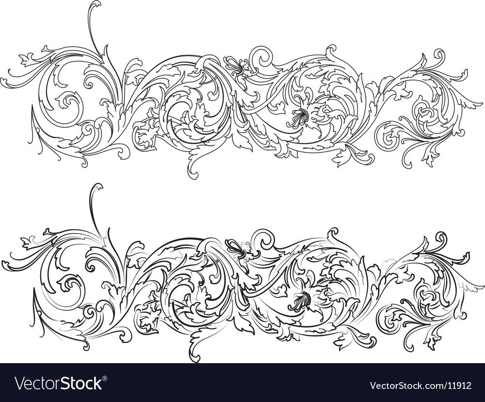 Baroque border vector